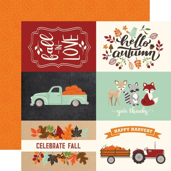 Echo Park Paper Fall Double-Sided Cardstock 12X12 (4X6 journaling cards)