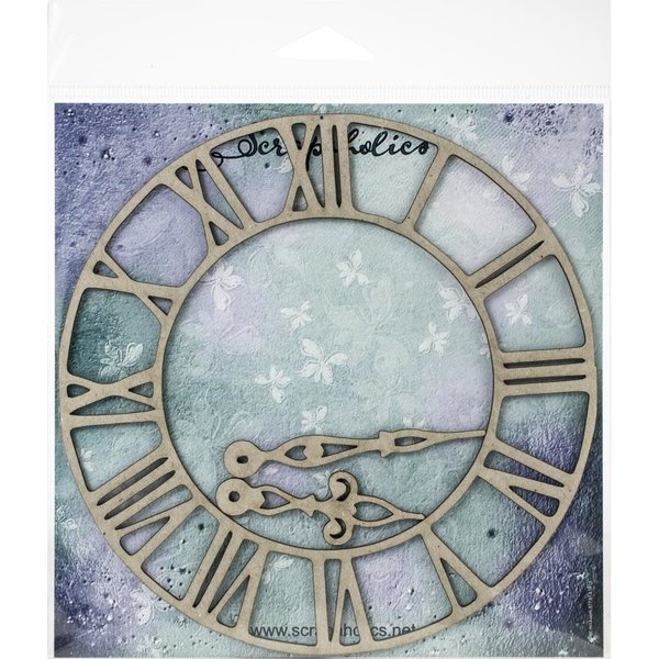 Scrapaholics Laser Cut Chipboard (roman clock md.)