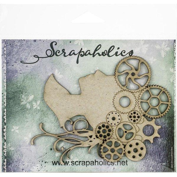 Scrapaholics Laser Cut Chipboard (steampunk cameo)