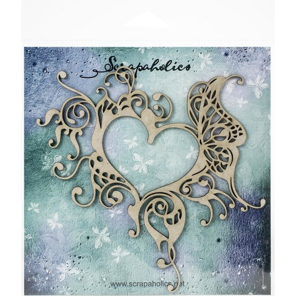 Scrapaholics Laser Cut Chipboard (gothic heart frame)