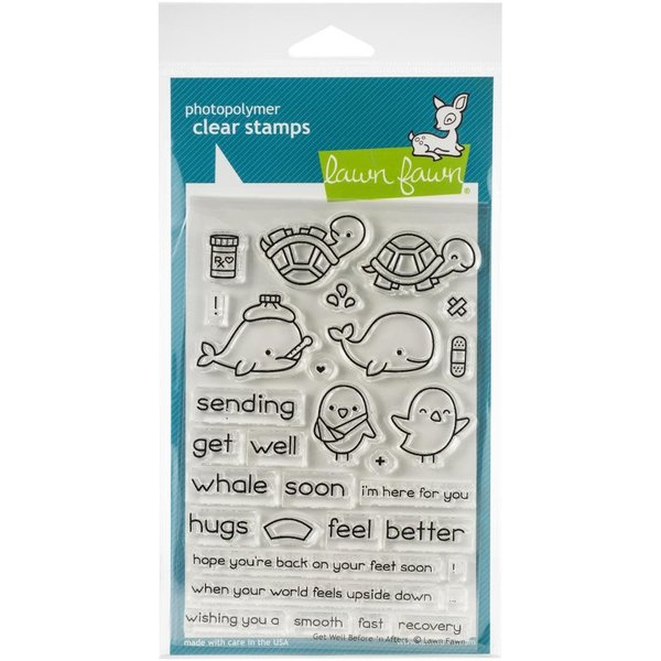 Lawn Fawn Clear Stamps (get well before 'n afters)