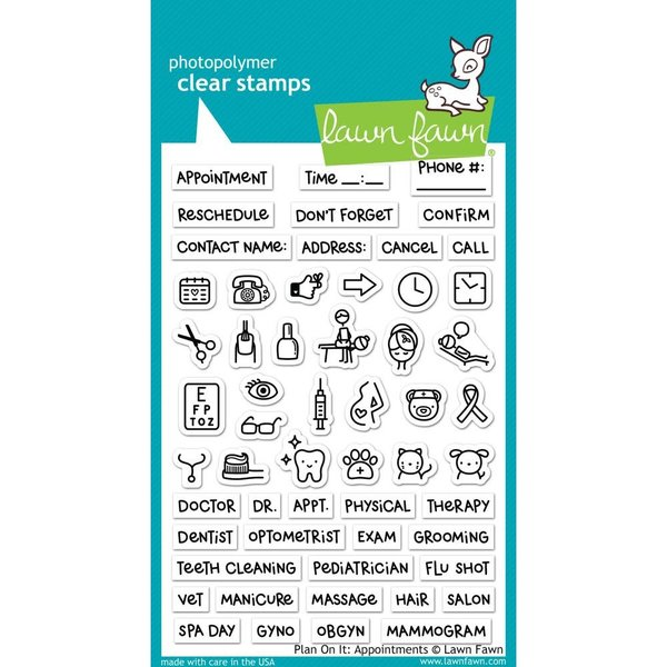 Lawn Fawn Clear Stamps (plan on it: appointments)