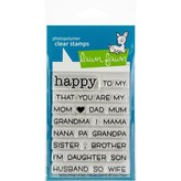 Lawn Fawn Clear Stamps (happy happy happy add-on: family)