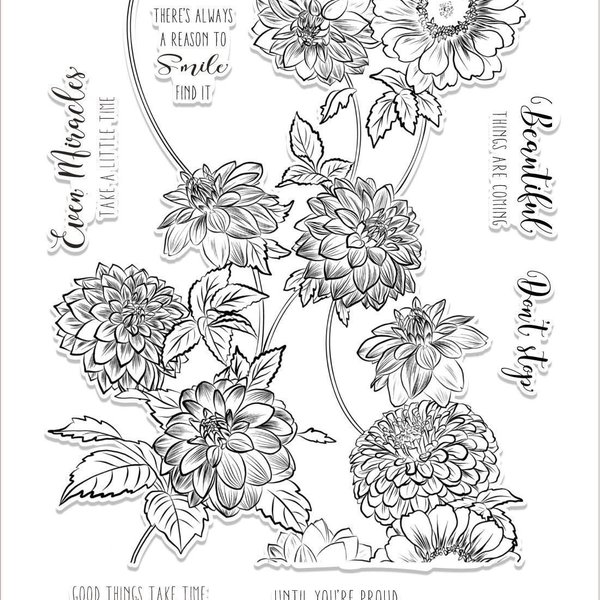 Clear Stamp Set (beautiful blossoms)