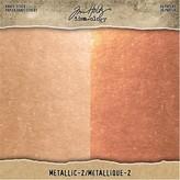 Advantus (Tim Holtz) Tim Holtz Idea-Ology - Paper Stash Kraft Metallic Paper Pad 8X8 (metallic 2)