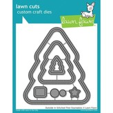 Lawn Fawn Dies (outside in stitched christmas tree stackables)
