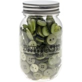 Buttons Galore Button Mason Jars (leafy green)
