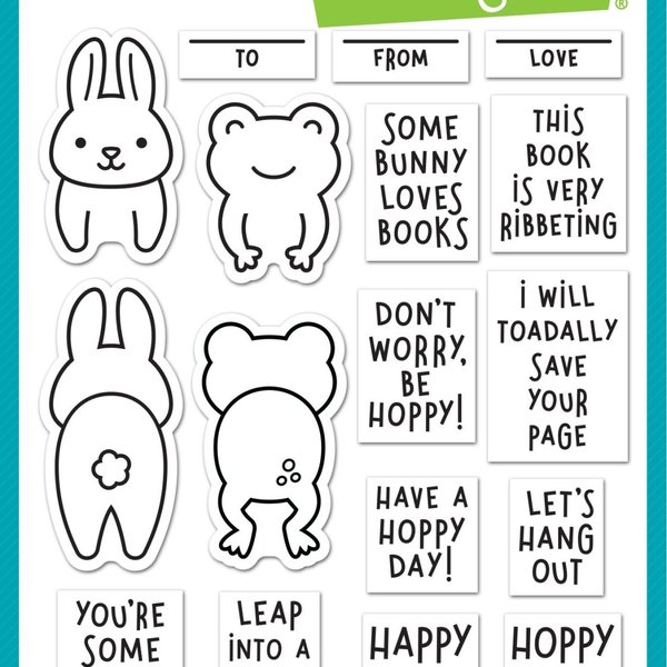 Lawn Fawn Clear Stamps (don't worry, be hoppy)