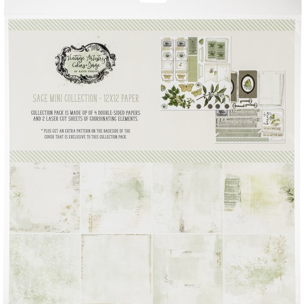 49 and Market Collection Pack 12X12 (vintage artistry sage)