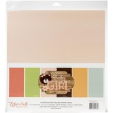 Echo Park Paper Solid Cardstock Pack 12x12 (baby girl)