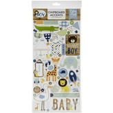 Echo Park Paper Chipboard Accents 6x13 (baby boy)