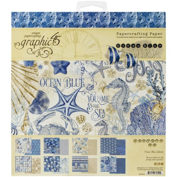 Graphic 45 Paper Pad 8x8 (ocean blue)