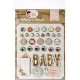 Echo Park Paper Decorative Brads (baby girl)