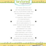 Taylored Expressions Cling Stamp - Simple Strips (birthday)