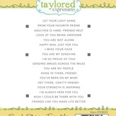 Taylored Expressions Cling Stamp - Simple Strips (friendship)