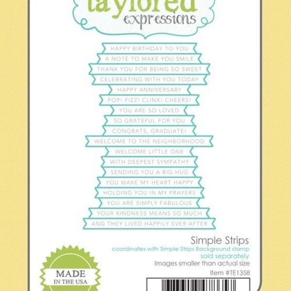 Taylored Expressions Die (simple strips)