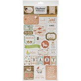 Echo Park Paper Chipboard Phrases 6x13 (baby girl)