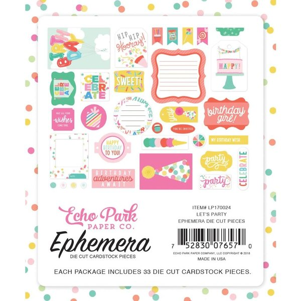Echo Park Paper Let's Party Cardstock Die-Cuts (icons)