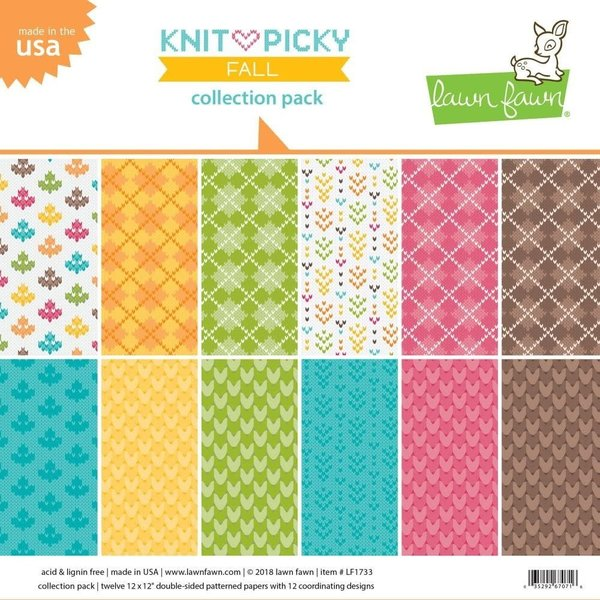 Lawn Fawn Double-Sided Collection Pack 12X12 (knit picky fall)
