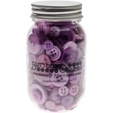 Buttons Galore Button Mason Jars (sour grapes)