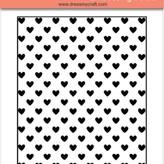 Embossing Folder (heart pattern)