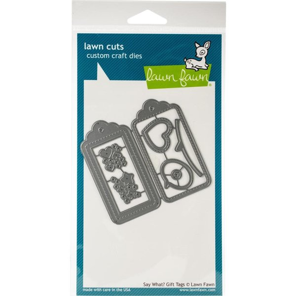 Lawn Fawn Dies (say what? gift tags)