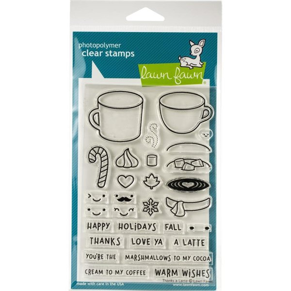 Lawn Fawn Clear Stamps (thanks a latte)