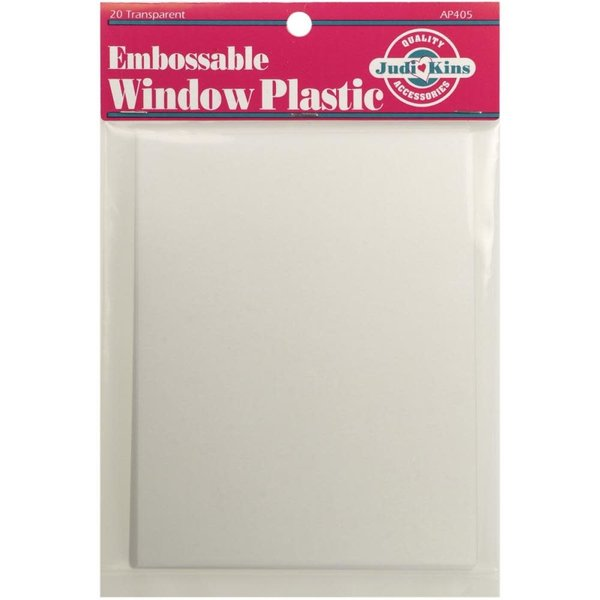 JudiKins Embossable Window Plastic Sheets 4.25X5.5 20/Pkg (clear)