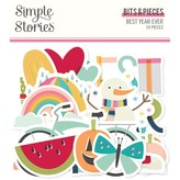Simple Stories Bits & Pieces Die-Cuts (best year ever)