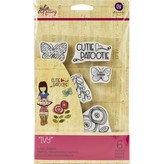 Prima Marketing Julie Nutting Mixed Media Cling Rubber Stamp (ivy)