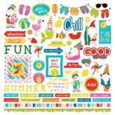 Photoplay Paper Element Stickers 12X12 (tulla & norbert's excellent adventure)