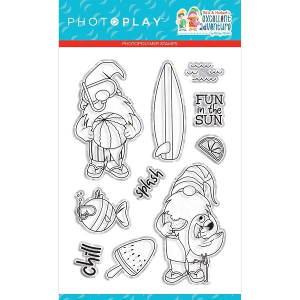 Photoplay Paper Photopolymer Stamp (tulla & norbert's excellent adventure)