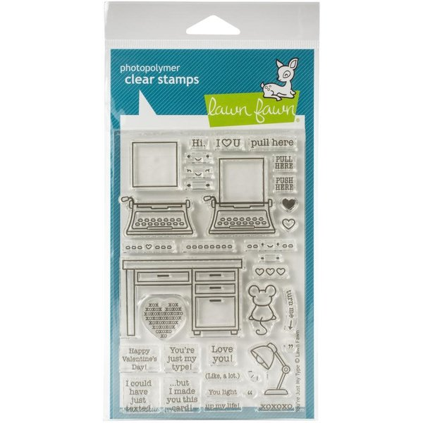 Lawn Fawn Clear Stamps (you're just my type)
