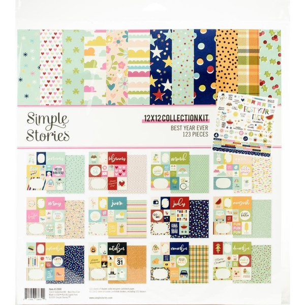 Simple Stories Collection Kit 12X12 (best year ever)