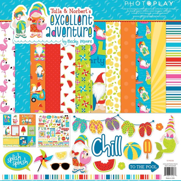 Photoplay Paper Collection Pack 12X12 (tulla & norbert's excellent adventure)