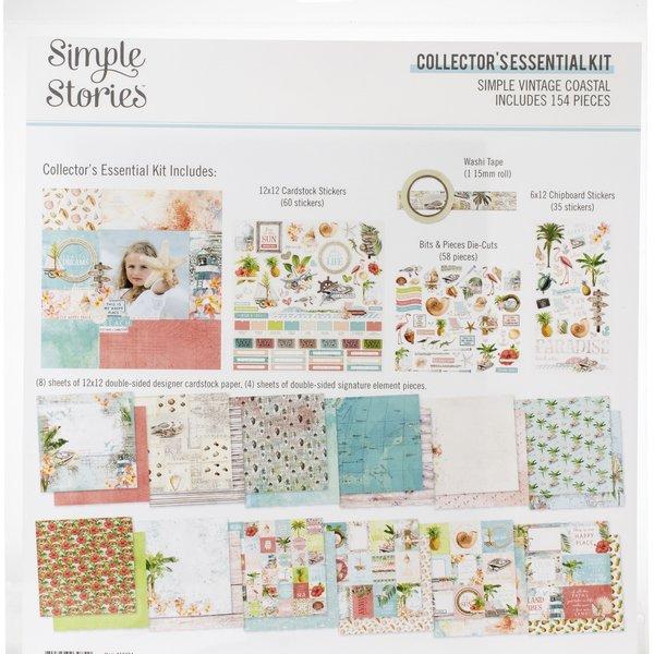 Simple Stories Collector's Essential Kit 12X12 (simple vintage coastal)
