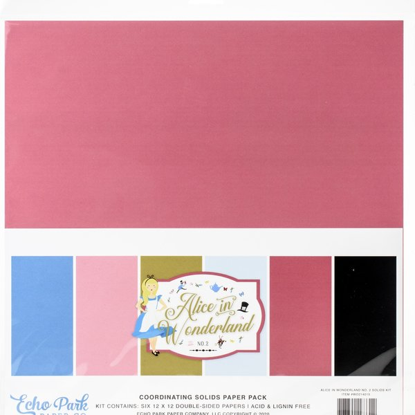 Echo Park Paper Double-Sided Cardstock 12X12 (alice in wonderland no. 2)