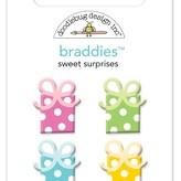 Doodlebug Braddies Brads (sweet surprises, hey cupcake)