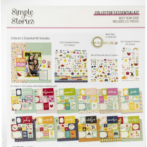 Simple Stories Collector's Essential Kit 12X12 (best year ever)