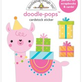 Doodlebug Doodle-Pops 3D Stickers - Hey Cupcake (party llama)
