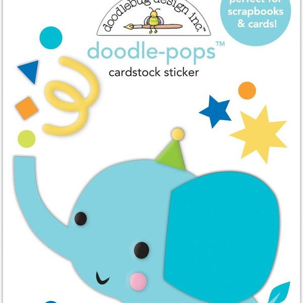 Doodlebug Doodle-Pops 3D Stickers - Party Time (tons of fun)