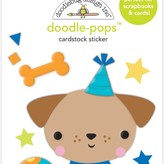 Doodlebug Doodle-Pops 3D Stickers - Party Time (yappy birthday)