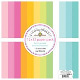 Doodlebug Textured Double-Sided Cardstock 12X12 (hey cupcake)