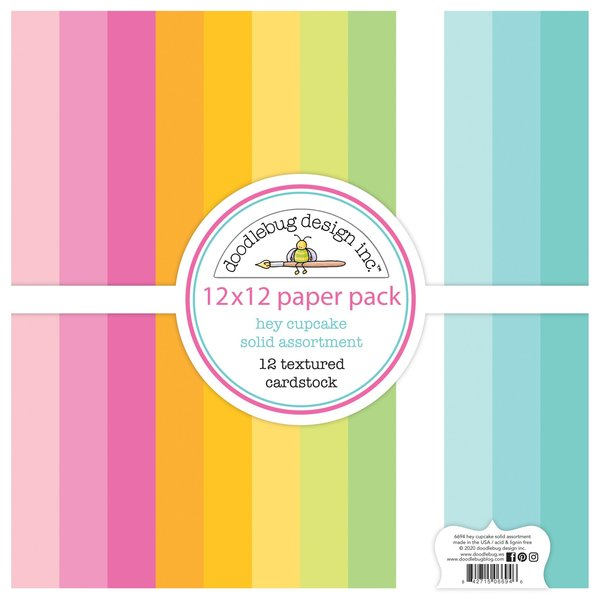 Doodlebug Textured Double-Sided Cardstock 12X12 (party time)