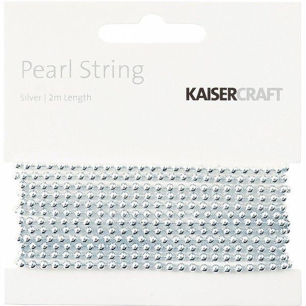 Kaisercraft Pearl String 2m - Silver