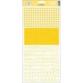 Doodlebug Teensy Type Cardstock Alphabet Stickers