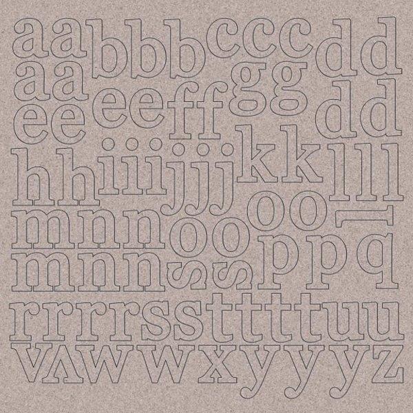 Kaisercraft 12x12 Chipboard (alphabet)