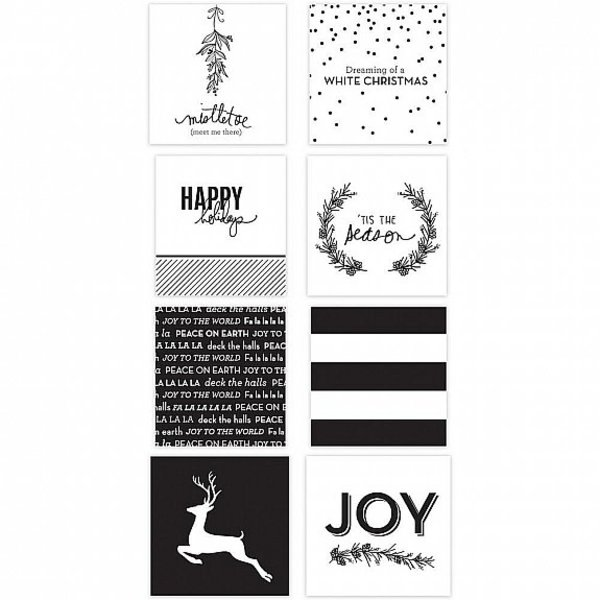 Heidi Swapp Minc Christmas Mini Gift Cards 3x3