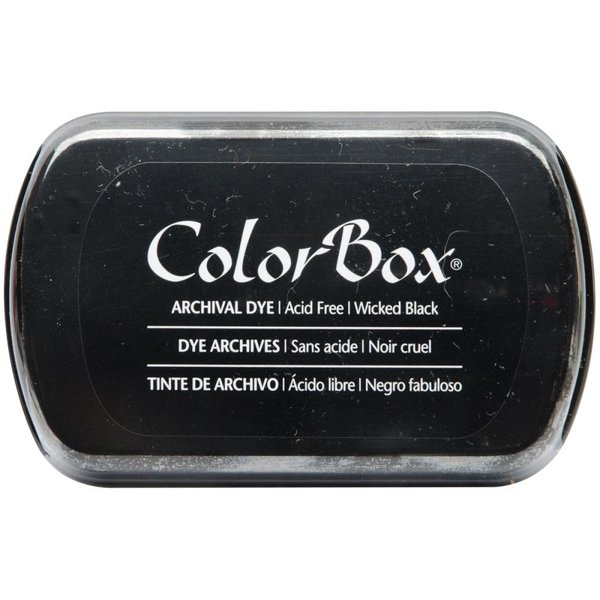 Colorbox Archival Dye Inkpad (wicked black)