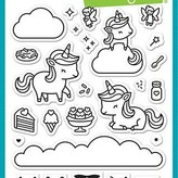 Lawn Fawn Clear Stamps 4X6 (unicorn picnic)